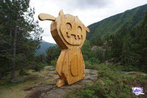 Dino es uno de los Tamarros que están escondidos en Andorra. Esta es Dino, la protectora de Ordino.